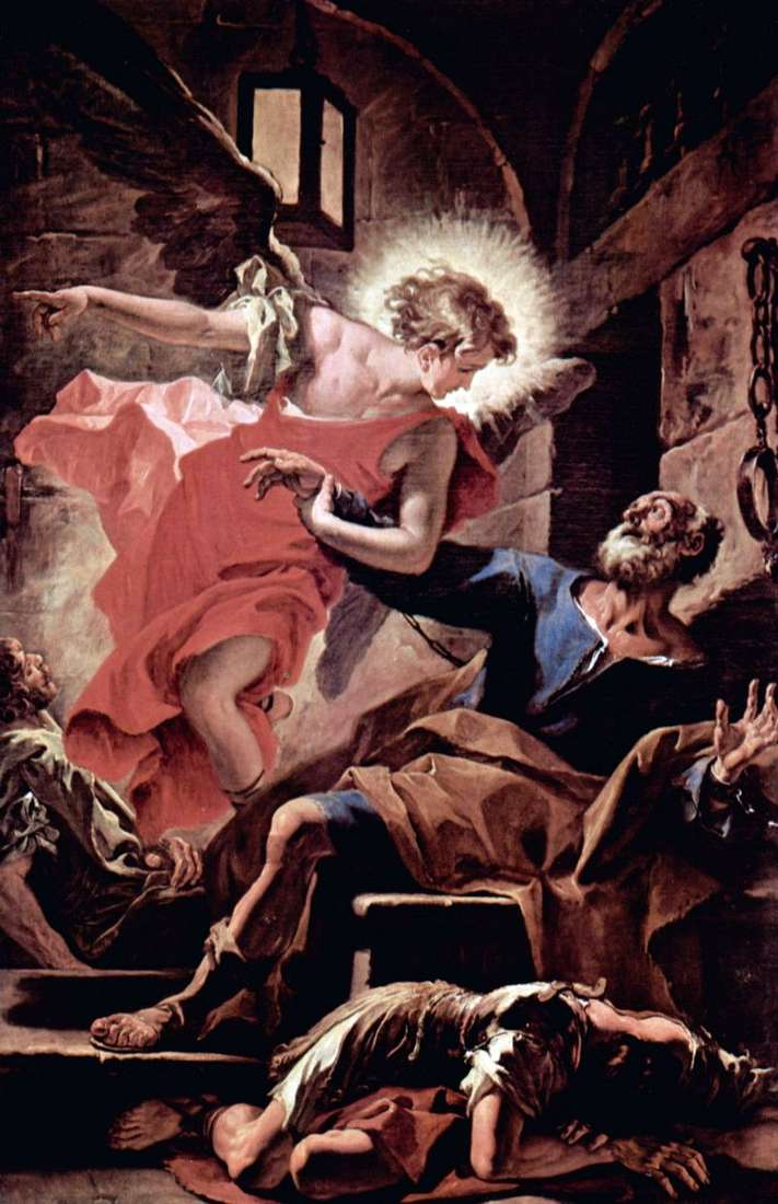 The release of the Apostle Peter by the angel by Sebastiano Ricci