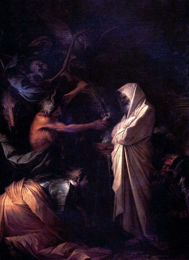 The Spirit of Samuel Called to Saul by the Sorceress of Aendor by Salvatore Rosa