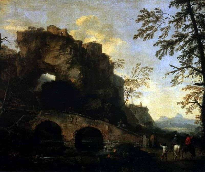 Landscape with the destroyed bridge by Rosa Salvatore