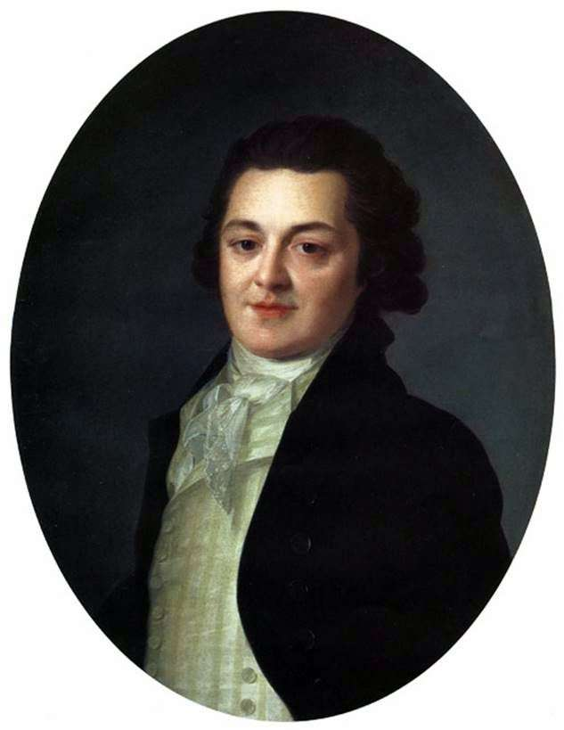 Portrait of A. A Buturlinoy by Fedor Rokotov