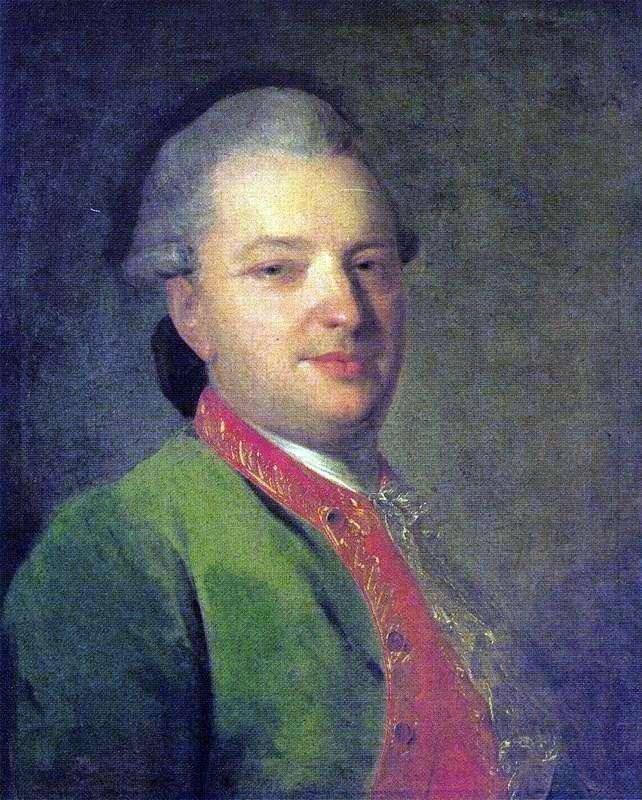Portrait of V. I. Maikov by Fedor Rokotov