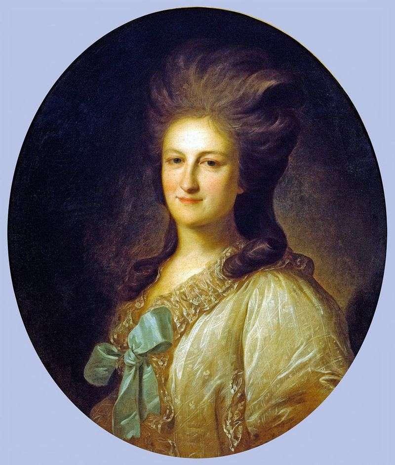 Portrait of Varvara Yermolaevna Novosiltseva by Fyodor Rokotov