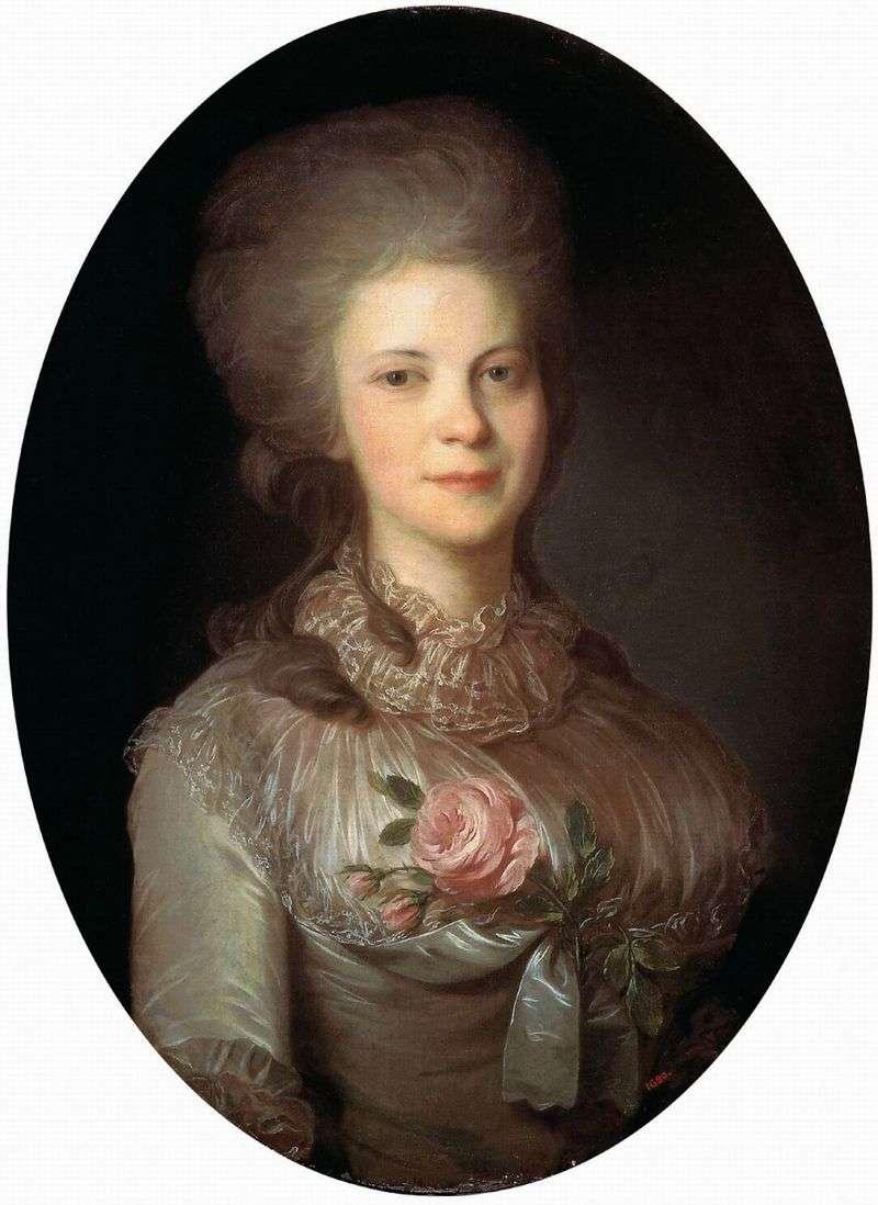 Portrait of Varvara Nikolaevna Surovtseva by Fedor Rokotov