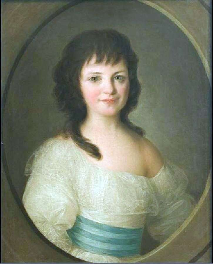 Portrait of Countess P. A. Vorontsova as a Child by Fyodor Rokotov