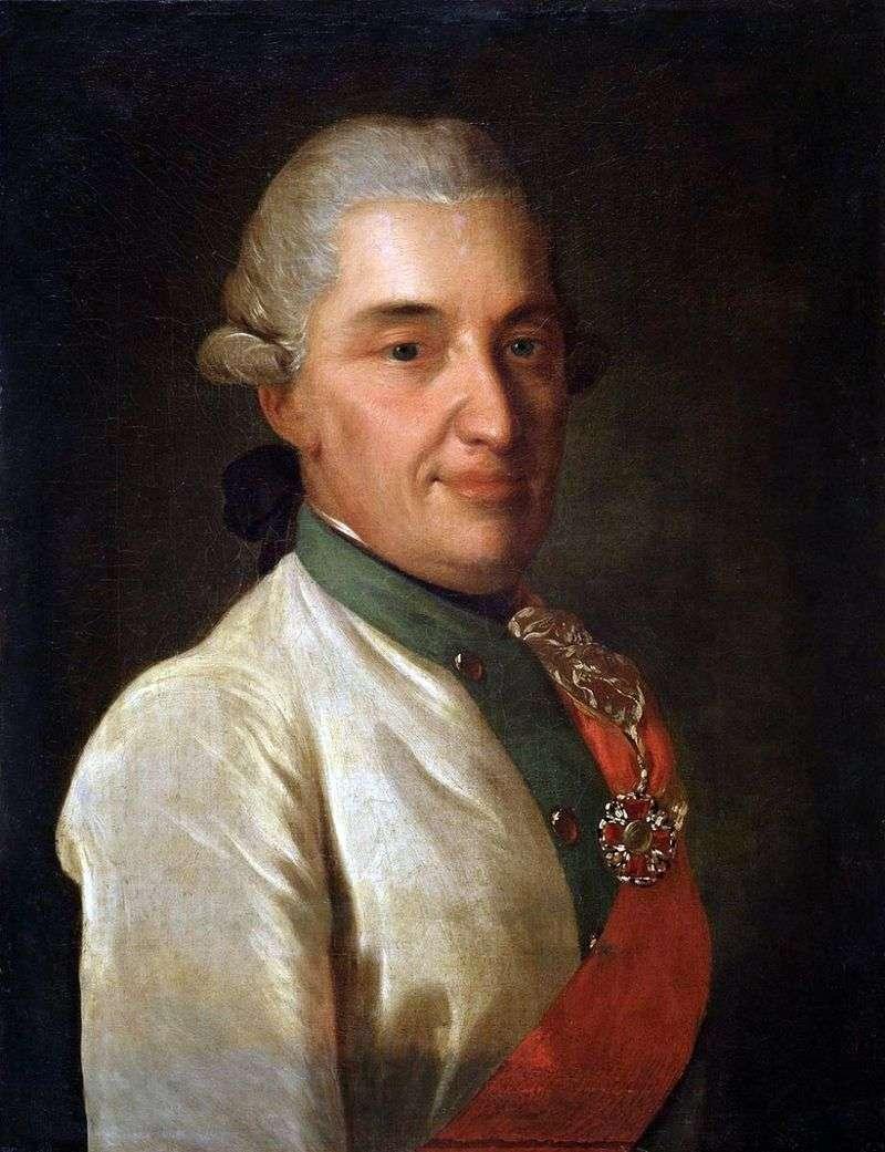 Portrait of D. N. Senyavin by Fedor Rokotov