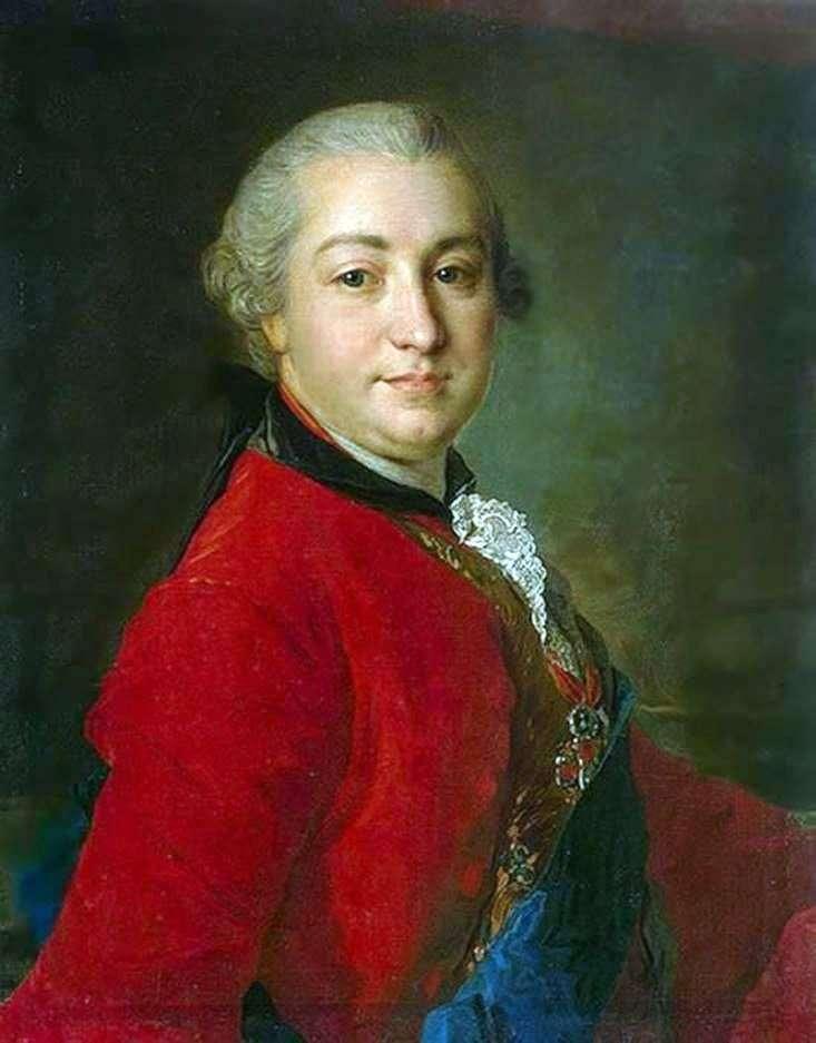 Portrait of I. I. Shuvalov by Fedor Rokotov