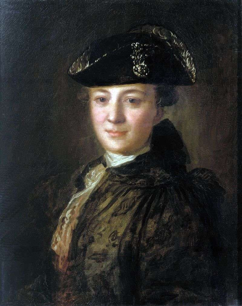 Portrait of an unknown in a cocked hat by Fedor Rokotov