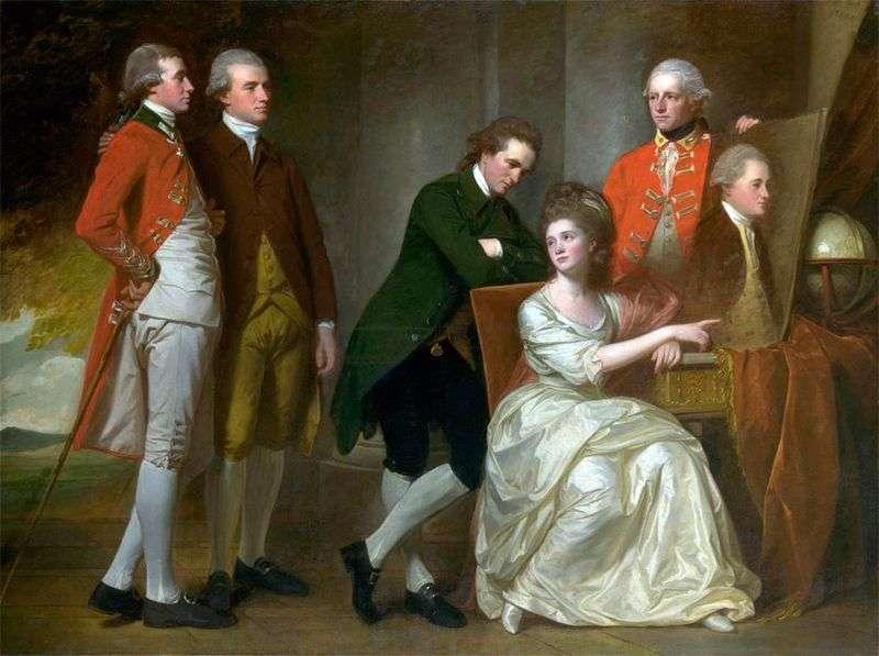 Portrait of the Beaumont Family by George Romney