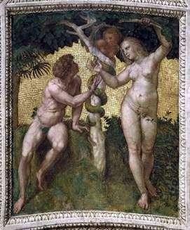 Adán y Eva   Rafael Santi