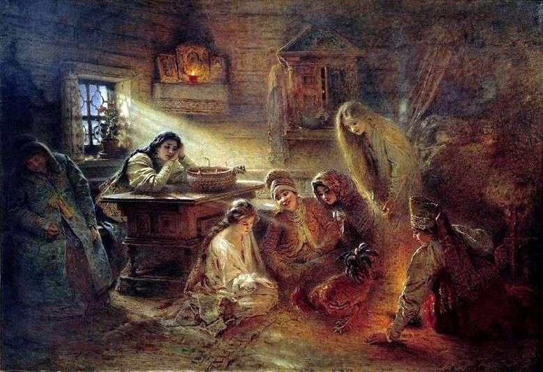 Adivinación navideña   Konstantin Makovsky