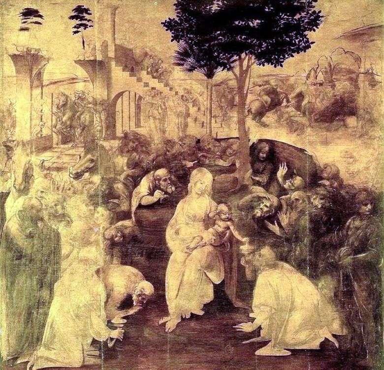 Adoración de los magos   Leonardo da Vinci