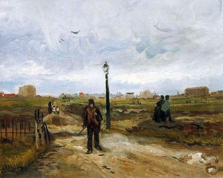 Afueras de París   Vincent Van Gogh