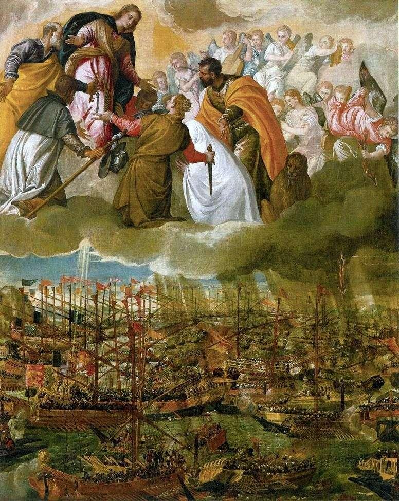 Alegoría de la batalla de Lepanto   Paolo Veronese