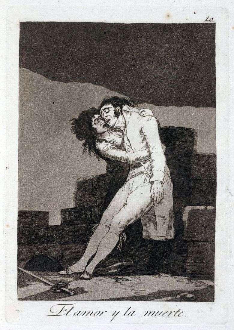 Amor y muerte   Francisco de Goya