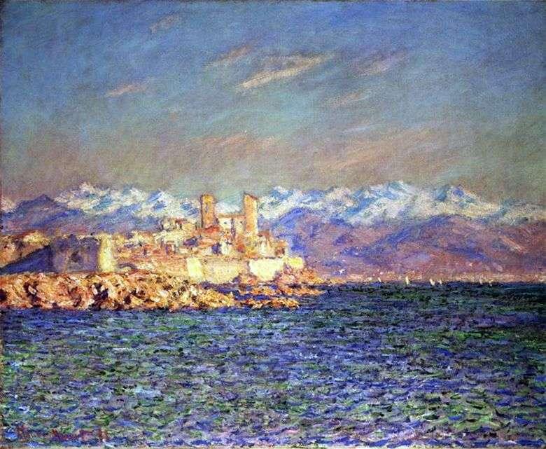 Antigua fortaleza de Antibes   Claude Monet