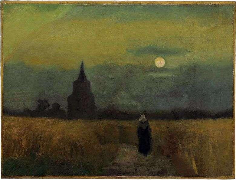 Antigua torre entre campos   Vincent van Gogh