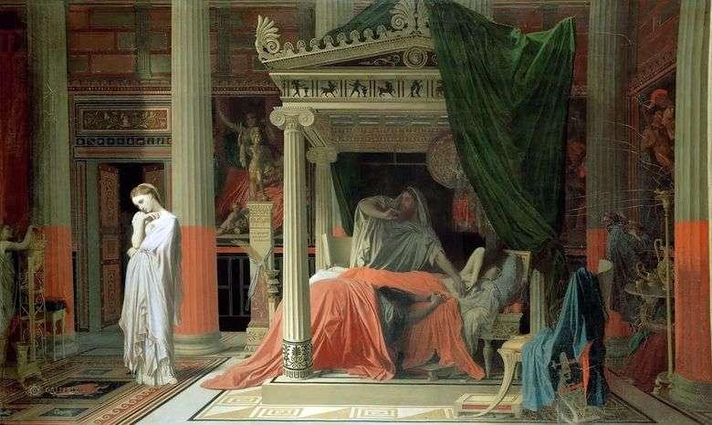 Antíoco y Stratonica   Jean Auguste Dominique Ingres
