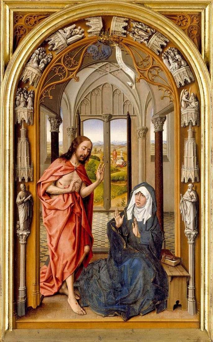 Aparición de Cristo a María   Juan de Flandes