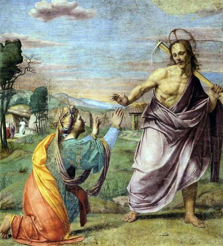 Aparición de Cristo   Franciabigio