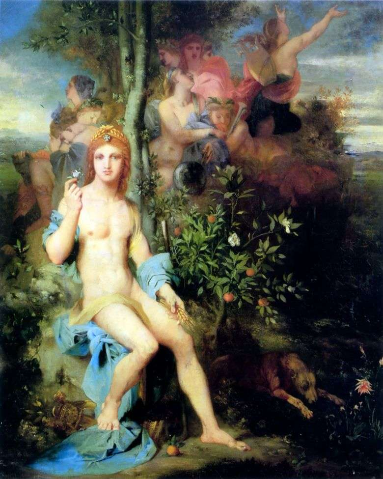 Apolo y las Nueve Musas   Gustave Moreau