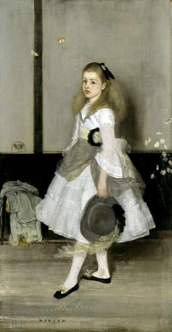 Armonía en gris y verde: Retrato de la señorita Cecily Alexander   James Whistler