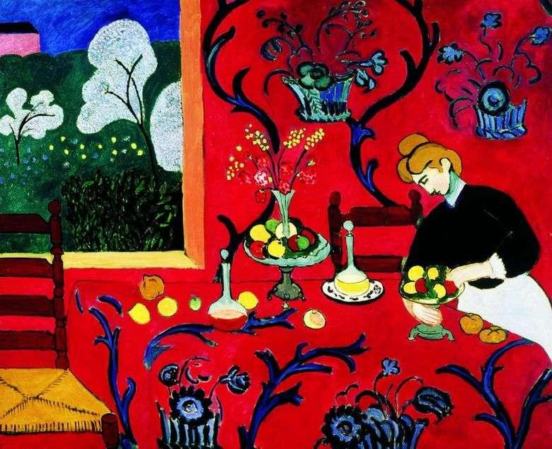 Armonía Roja (Postre)   Henri Matisse