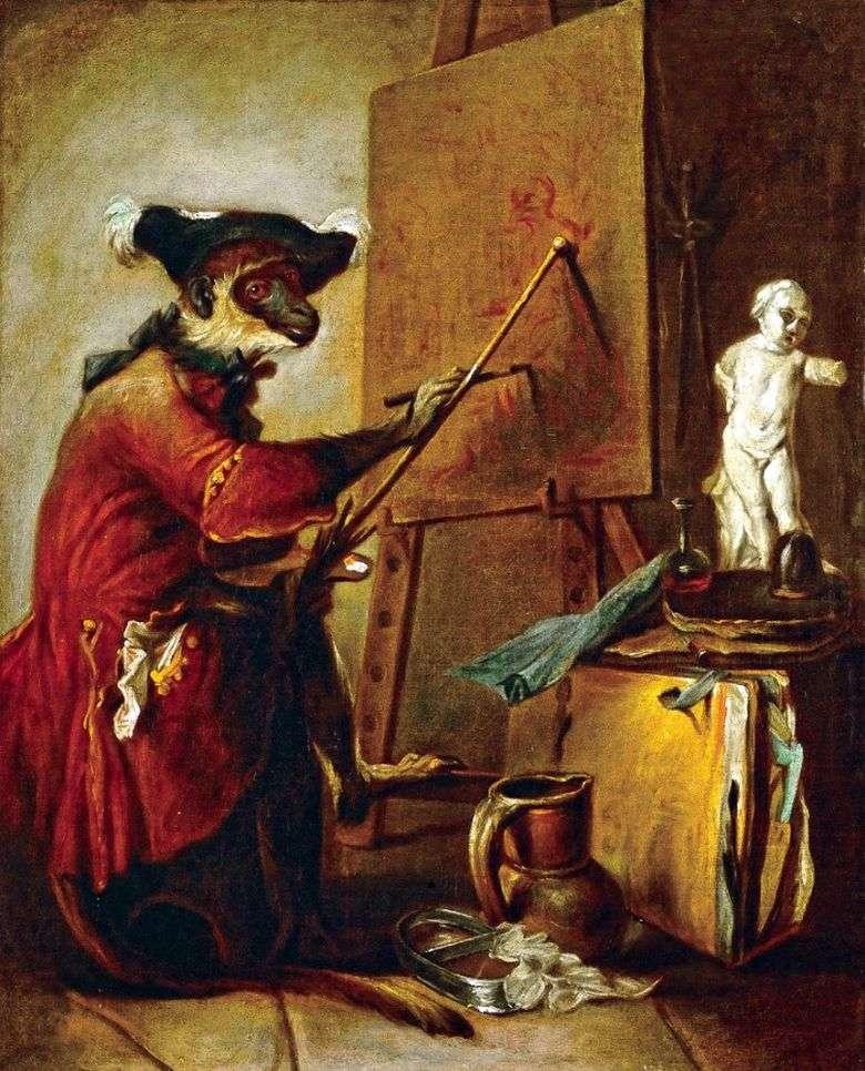 Artista del mono   Jean Baptiste Simeon Chardin