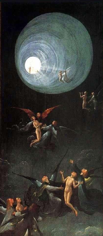 Ascensión en el Imperio, Visiones del próximo mundo. Parte del Altar   Hieronymus Bosch