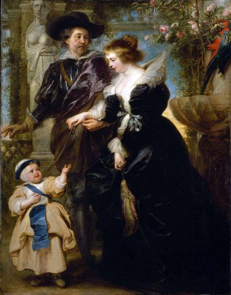Autorretrato con Elena Fourman y su hijo   Peter Rubens