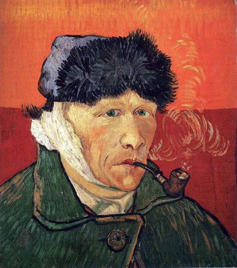 Autorretrato con oreja y tubo vendados   Vincent van Gogh