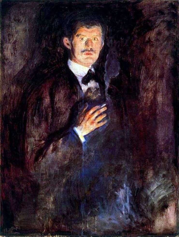 Autorretrato   Edvard Munch