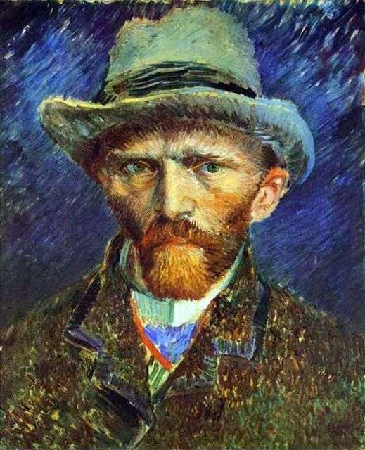 Autorretrato en un sombrero gris   Vincent van Gogh