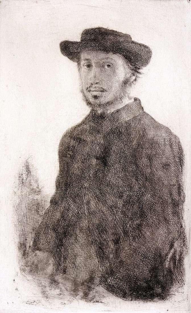 AutorretratoGrabado   Edgar Degas