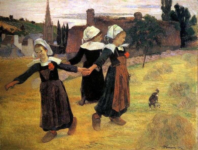 Baile redondo de pequeños bretones   Paul Gauguin