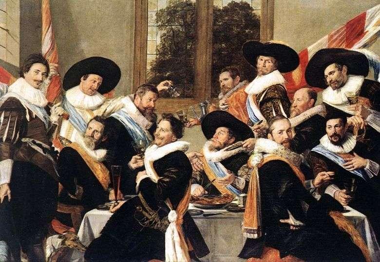 Banquete de oficiales de la compañía de sv. Adriana   Frans Hals