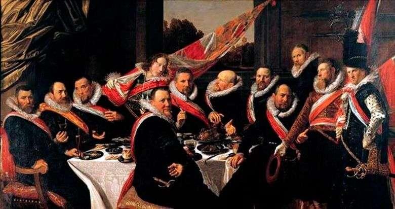 Banquete de oficiales de la compañía de sv. George   Frans Hals