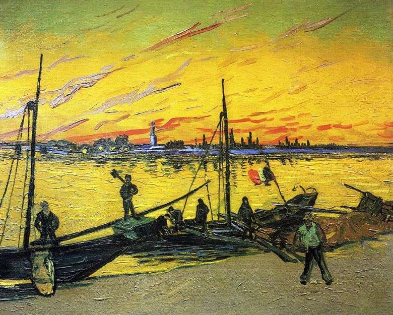 Gabarras de carbón   Vincent van Gogh