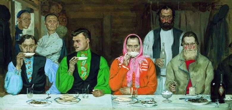 Beber té   Andrey Ryabushkin