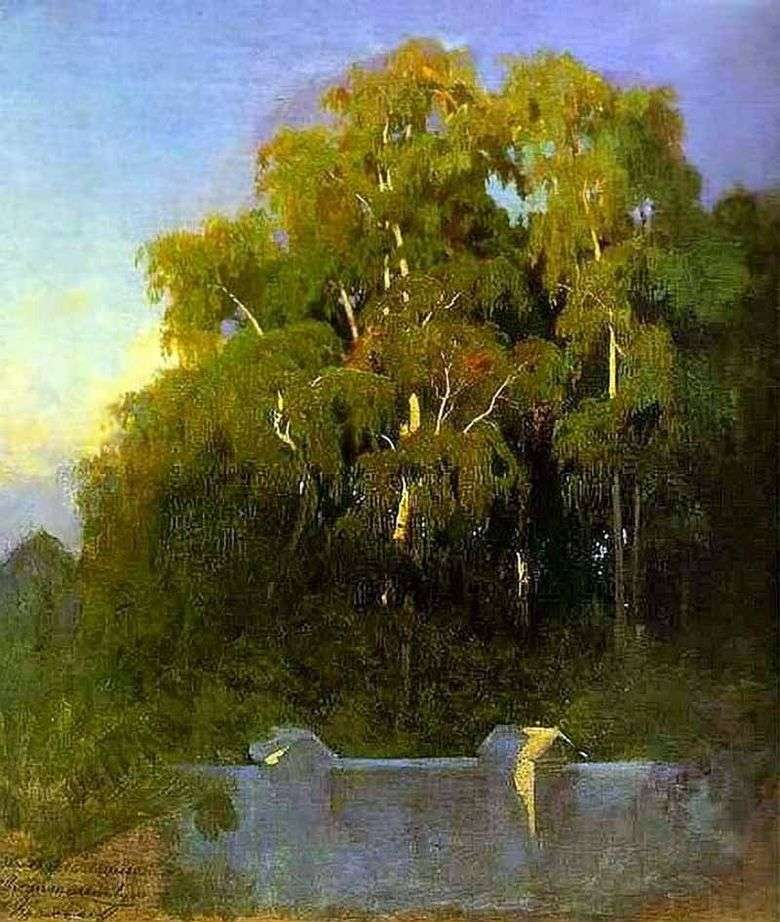 Birch Grove en la noche   Fedor Vasilyev