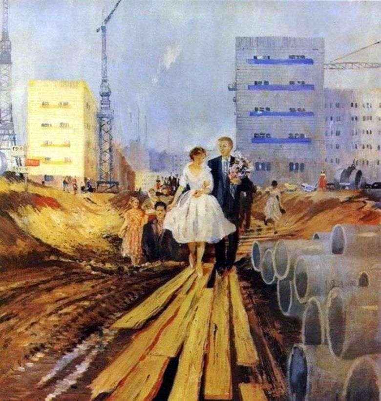 Boda en la calle de mañana   Yuri Pimenov