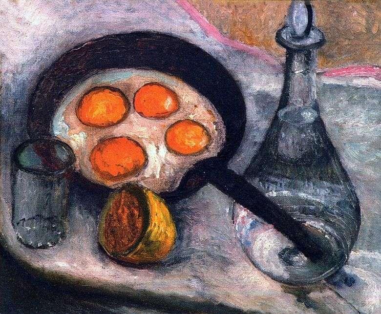 Bodegón con huevos fritos   Paula Modersohn Becker