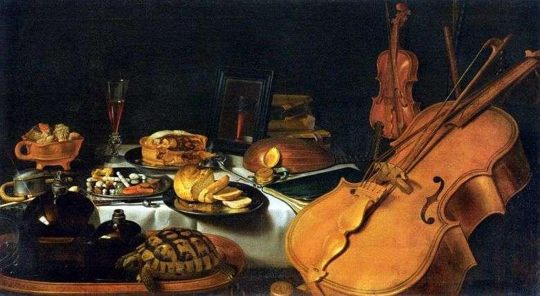 Bodegón con instrumentos musicales   Peter Claes