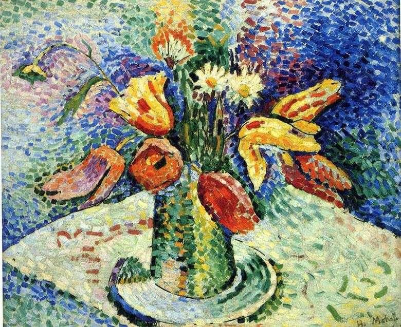 Bodegón con un ramo   Henri Matisse