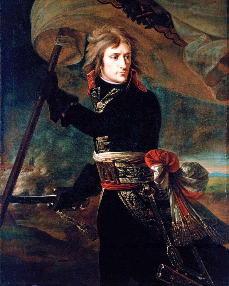 Bonaparte en el puente Arkolsky 17 de noviembre   Antoine Gros