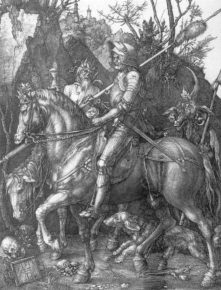 Caballero, la muerte y el diablo   Albrecht Durer