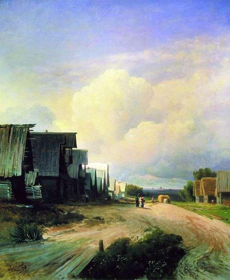 Calle de la aldea   Fedor Vasilyev