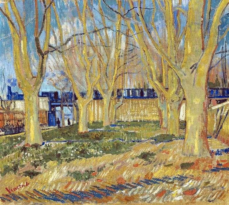 Calle Platan cerca de la estación Arly   Vincent Van Gogh