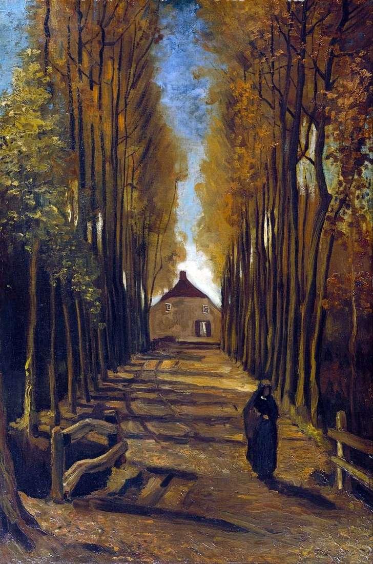 Callejón del álamo en otoño   Vincent van Gogh