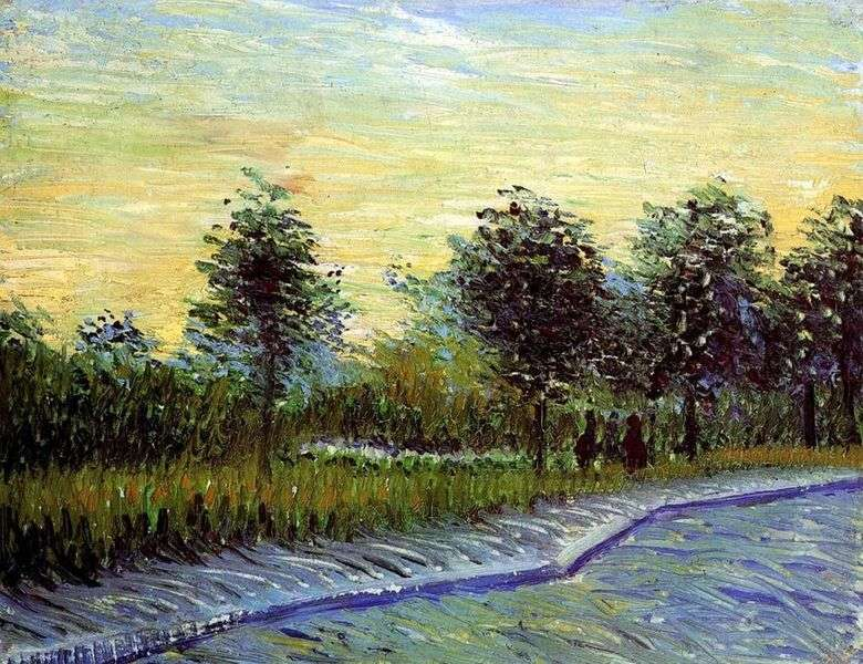 Callejón en Parc dArgenson en Anyer   Vincent van Gogh