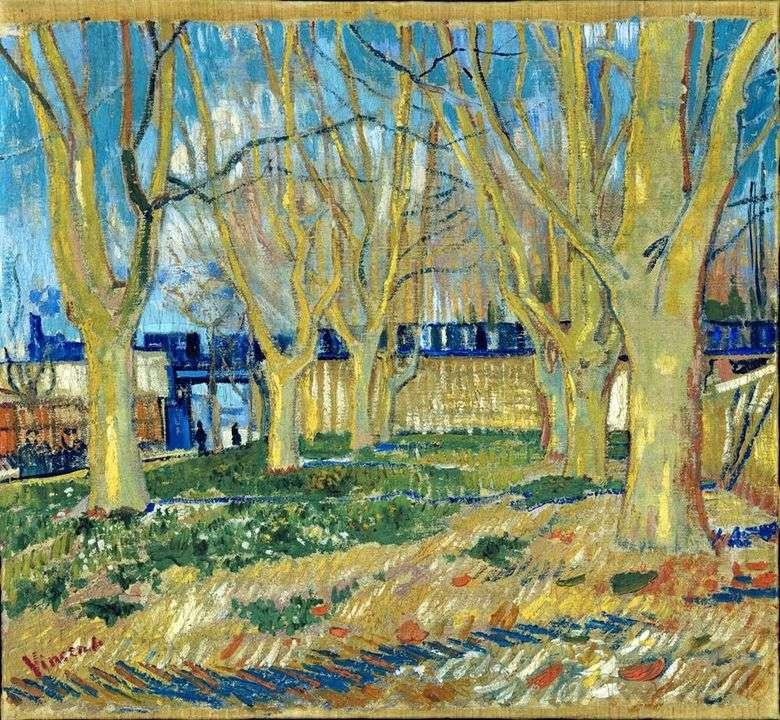 Callejón plano   Vincent van Gogh